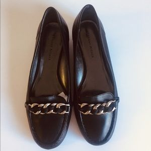 Erienne Aigner Black Leather Flats Loafers Sz 7.5M
